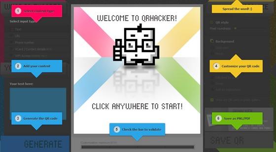 Начало создания QR-кода