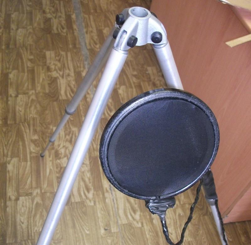 Поп фильтр своими руками для микрофона